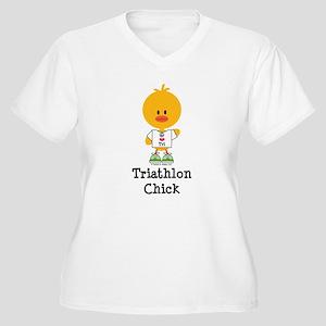 Triathlon Chick Women's Plus Size V-Neck T-Shirt