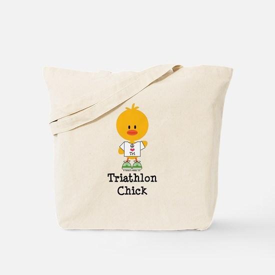 Triathlon Chick Tote Bag