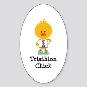 Tri Chick Sticker (Oval)