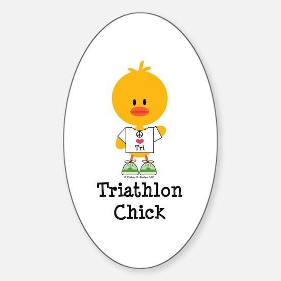 Tri Chick Sticker (Oval)