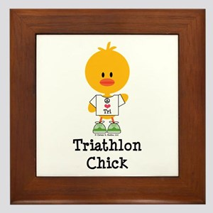 Triathlon Chick Framed Tile