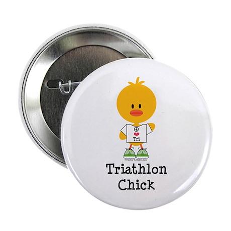 """Triathlon Chick 2.25"""" Button"""