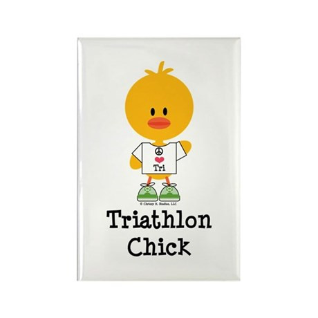 Tri Chick Rectangle Magnet (100 pack)