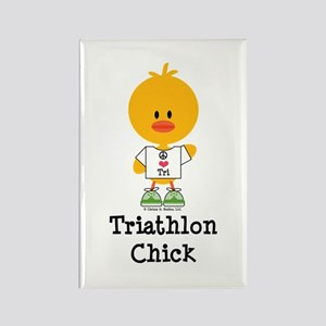 Tri Chick Rectangle Magnet