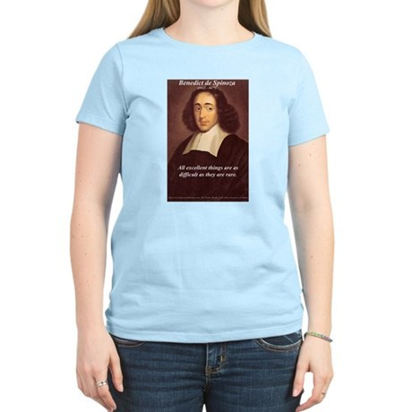 Spinoza Ethics Philosophy Women's Pink T-Shirt