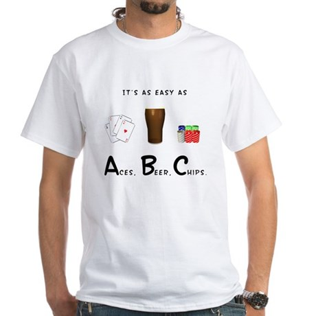 """It's as easy as ABC"" White T-Shirt"