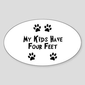 Dog Lover Sticker (Oval)