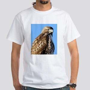 red tailed hawk near on a sign T-Shirt