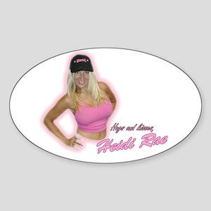 HeidiRae Hat Sticker (Oval)