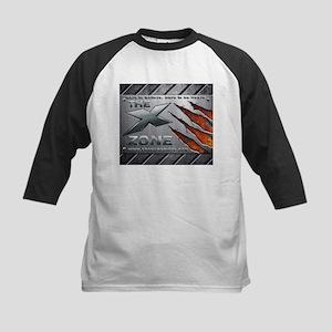 Brushed Steel - X ZONE logo Kids Baseball Jersey
