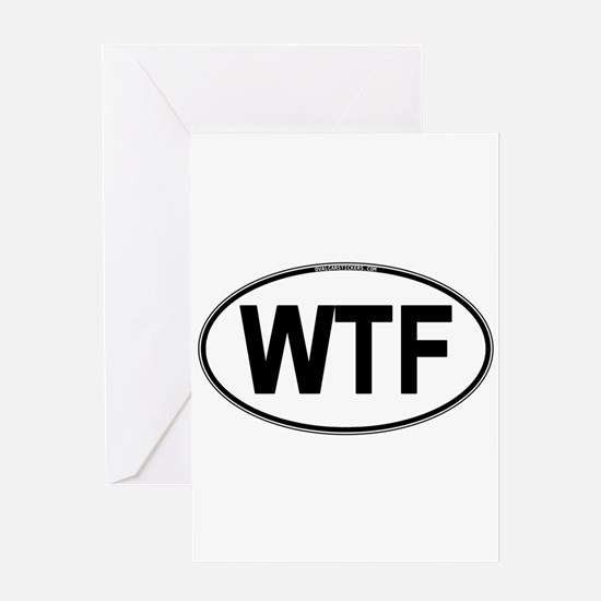 WTF Oval Greeting Card