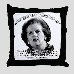 Margaret Thatcher 01 Throw Pillow