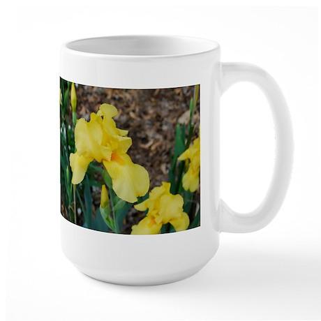 Yellow Irises Large Mug