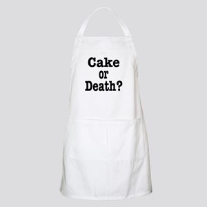 Cake or Death Black Apron