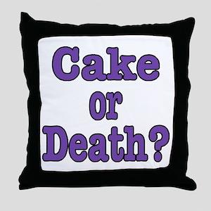 Cake Please Throw Pillow