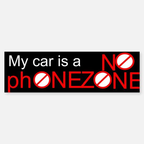 No Phone Zone Bumper Bumper Bumper Sticker