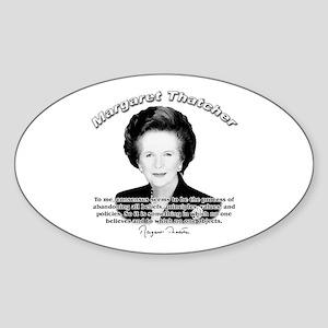 Margaret Thatcher 03 Oval Sticker