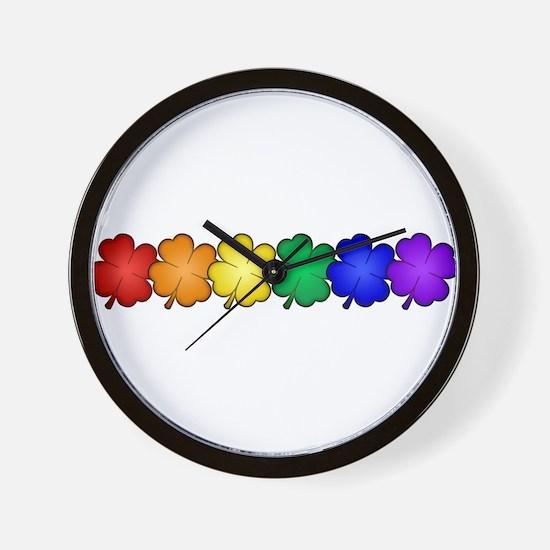 Shamrock Pride Wall Clock