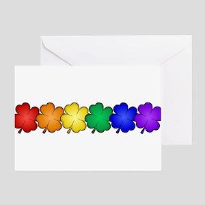 Shamrock Rainbow Pride Greeting Card