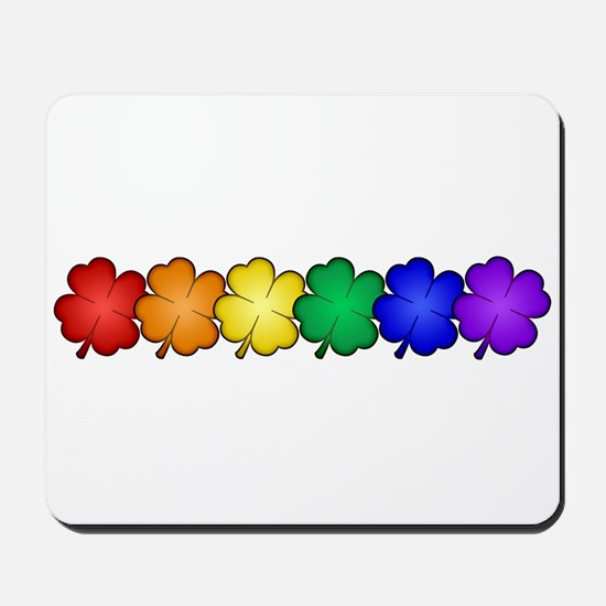 Shamrock Rainbow Pride Mousepad