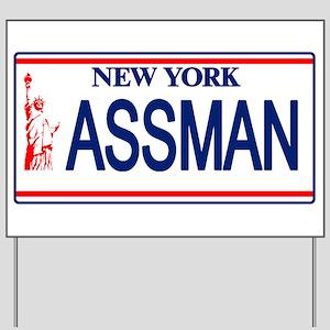 Seinfeld Ass Man License Plat Yard Sign