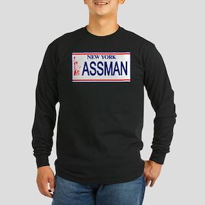 Seinfeld Ass Man License Plat Long Sleeve Dark T-S