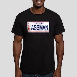 Seinfeld Ass Man License Plat Men's Fitted T-Shirt