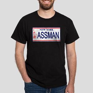 Seinfeld Ass Man License Plat Dark T-Shirt