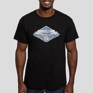 Coast the Coast - dia-blu Men's Fitted T-Shirt (da