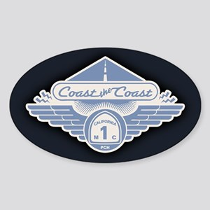 Coast the Coast - dia-blu Sticker (Oval)