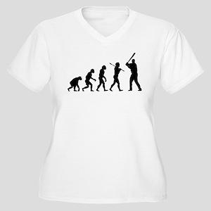 Baseball Women's Plus Size V-Neck T-Shirt