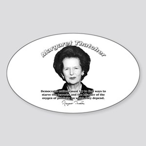 Margaret Thatcher 04 Oval Sticker