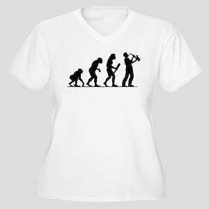 Saxophone Player Women's Plus Size V-Neck T-Shirt