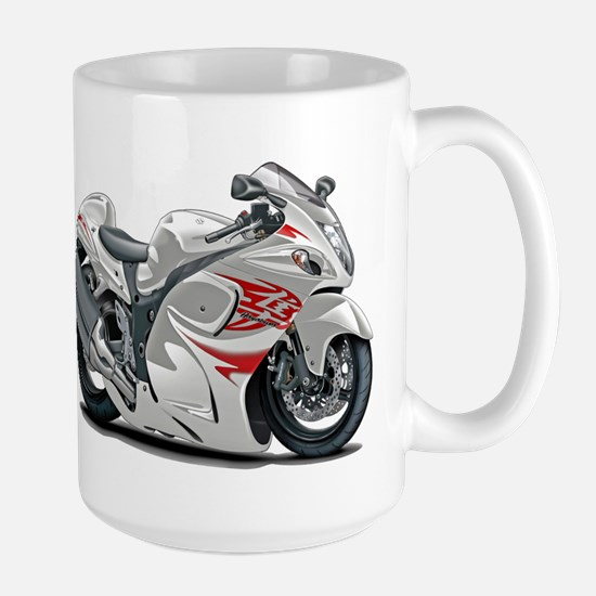 Hayabusa White-Red Bike Large Mug