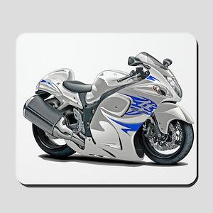 Hayabusa White-Blue Bike Mousepad