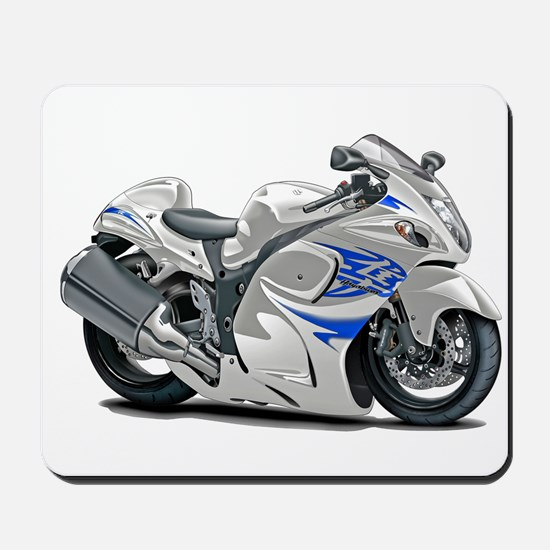 Hayabusa White-Blue Bike Mousepad