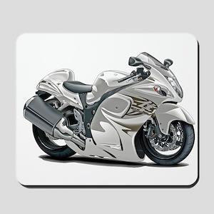 Hayabusa White Bike Mousepad