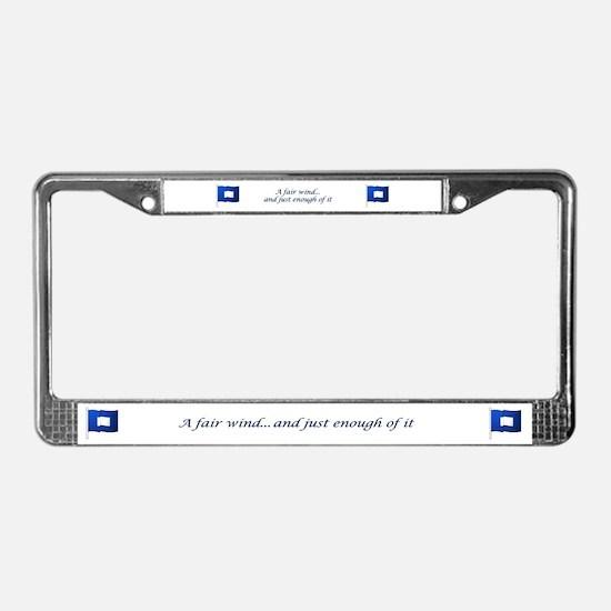 Blue Peter License Plate Frame