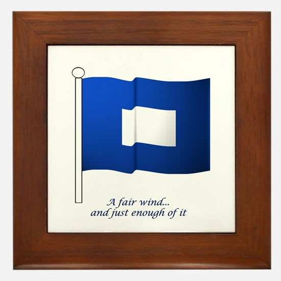 Blue Peter Framed Tile