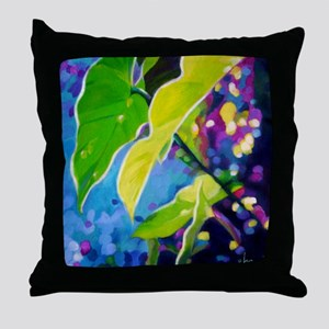 Sunset Through the Leaves Throw Pillow