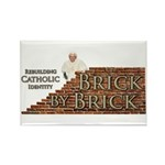 Brick By Brick with Benedict Rectangle Magnet (100
