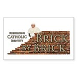 Brick By Brick with Benedict Sticker (Rectangle)