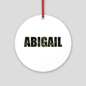 Camo Abigail Ornament (Round)