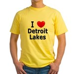 I Love Detroit Lakes Yellow T-Shirt
