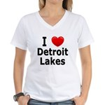I Love Detroit Lakes Women's V-Neck T-Shirt