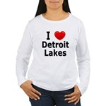 I Love Detroit Lakes Women's Long Sleeve T-Shirt