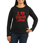 I Love Detroit Lakes Women's Long Sleeve Dark T-Sh