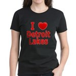 I Love Detroit Lakes Women's Dark T-Shirt