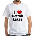 I Love Detroit Lakes White T-Shirt