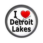 I Love Detroit Lakes Wall Clock
